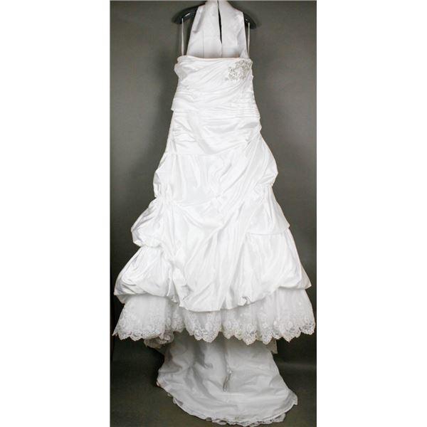 WHITE MARY'S BRIDAL DESIGNER GOWN W/ WRAP;