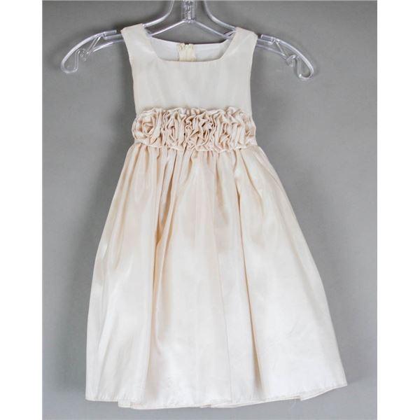 CHAMPAGNE JOLENE CHILDREN'S BRIDAL DRESS; SIZE 2