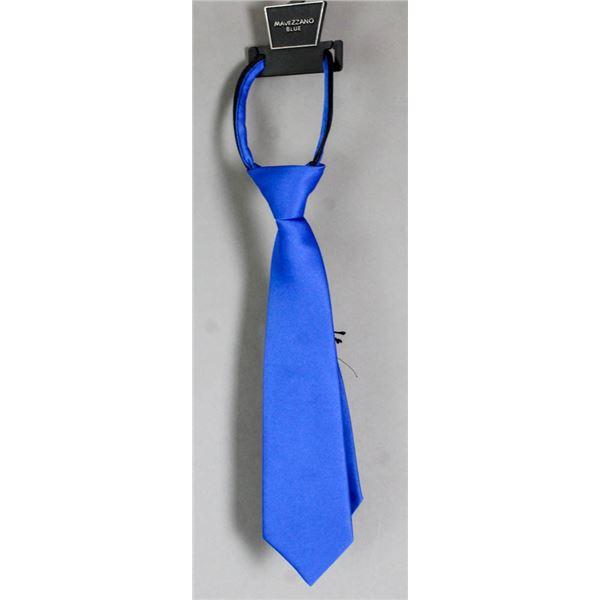 TODDLERS MAVEZZANO BLUE NECK TIE- ADJUSTABLE
