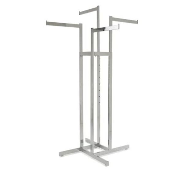 4 HANGER METAL CLOTHING STAND - STORE FIXTURE