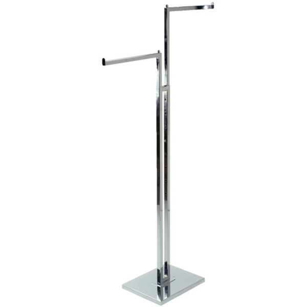 2 PLACE HANGER METAL CLOTHING STAND -STORE FIXTURE