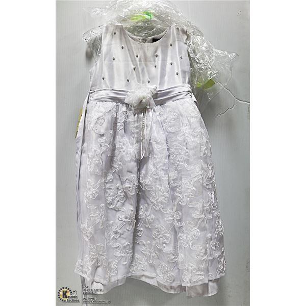 NEW - KIDS SZ 5 WHITE FORMAL. WEDDING