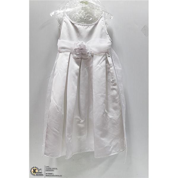 NEW - KIDS SZ 6X WHITE FORMAL. WEDDING