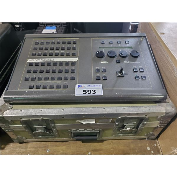 NSI MLC 16 PROFESSIONAL MOTORIZED LIGHTING CONTROLLER WITH GREY METAL PORTABLE ROAD CASE