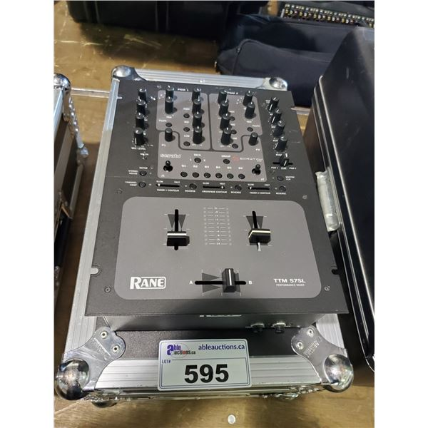 RANE TTM 57SL RACK MOUNTED PERFORMANCE MIXER WITH ODYSSEY ROAD CASE