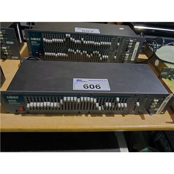 ASHLY 3101 GQX SERIES THIRD OCTAVE RACK MOUNTED GRAPHIC EQUALIZER