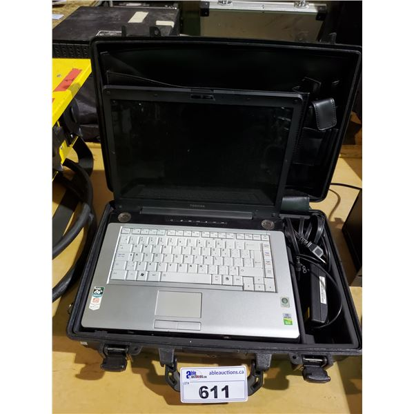 "TOSHIBA SATELLITE 15"" LAPTOP, AMD ATHLON 64 DUAL-CORE PROCESSOR WITH HARD PLASTIC TRANSPORT CASE"