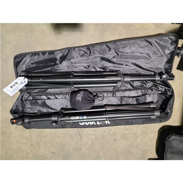 2 PROFESSIONAL SPEAKERS STANDS WITH SOFT CARRY BAG