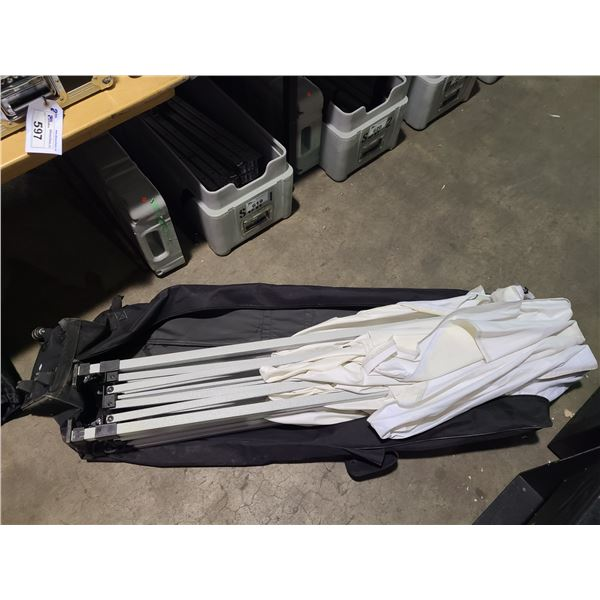 WHITE FOLDING PORTABLE TENT BUILDING IN SOFT CARRY CASE