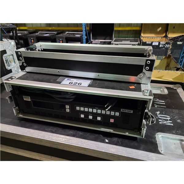 """BARC DCS-100 PROFESSIONAL RACK MOUNT DUAL CHANNEL SWITCHER IN 21""""W X 21""""D X 7""""H ROAD CASE"""