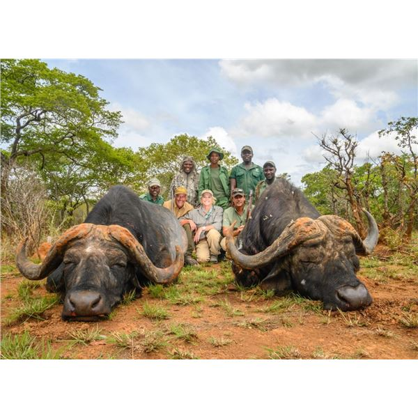 ADAM CLEMENTS SAFARIS 10-DAY BUFFALO HUNT FOR ONE HUNTER AND ONE NON HUNTER IN TANZANIA