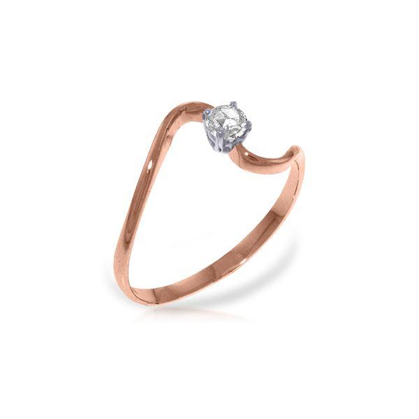 Genuine 0.15 ctw Diamond Anniversary Ring 14KT Rose Gold - REF-34H3X