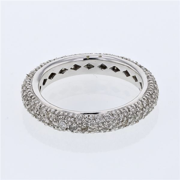 Natural 1.25 CTW Diamond Ring 14K White Gold - REF-94W5H