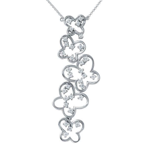 Natural 0.76 CTW Diamond Necklace 14K White Gold - REF-111F6M