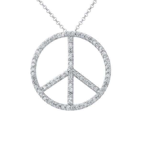 Natural 0.93 CTW Diamond Necklace 14K White Gold - REF-77K4R