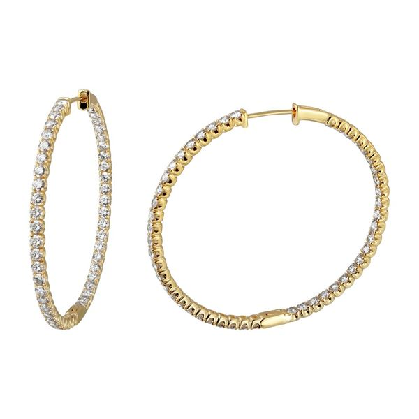 Natural 6.41 CTW Diamond Earrings 14K Yellow Gold - REF-590T4X
