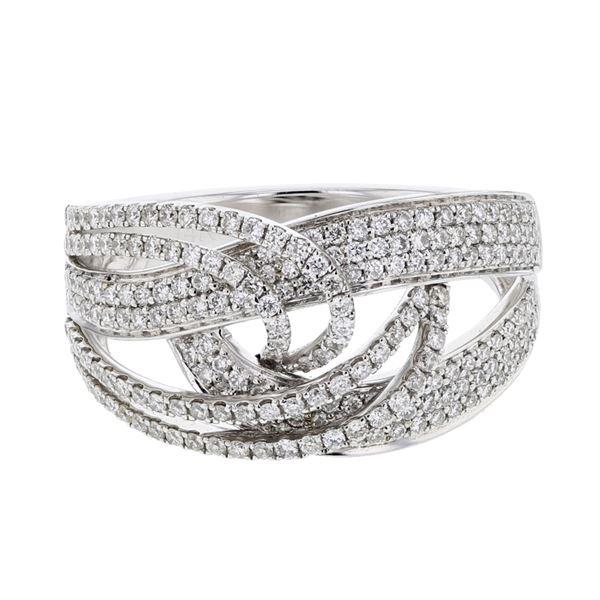 Natural 0.78 CTW Diamond Ring 14K White Gold - REF-146T7X