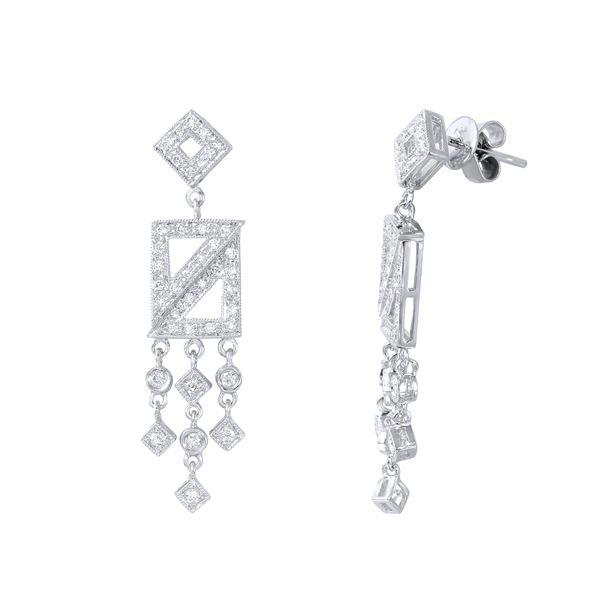 Natural 0.74 CTW Diamond Earrings 18K White Gold - REF-106F2M