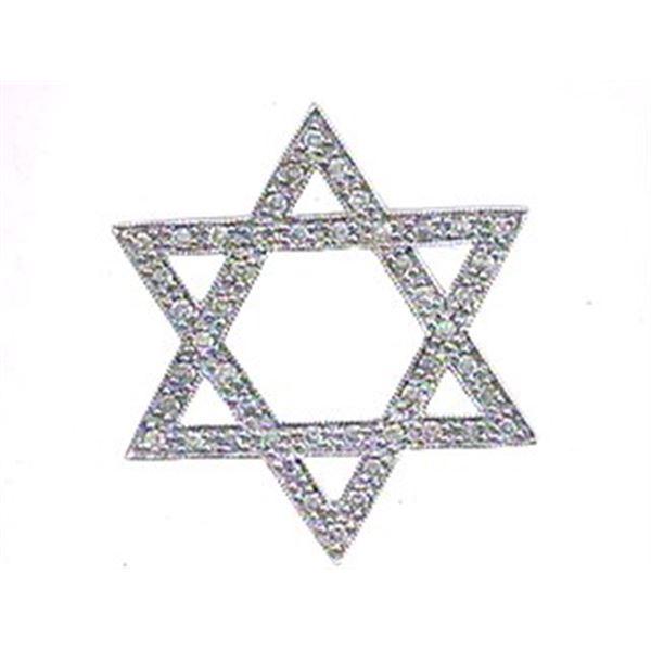 Natural 0.35 CTW Diamond Necklace 14K White Gold - REF-47F7M