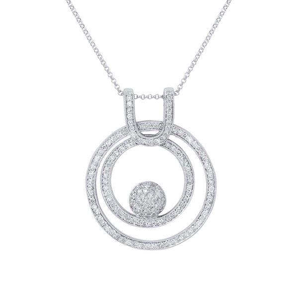 Natural 1.31 CTW Diamond Necklace 14K White Gold - REF-126K9R