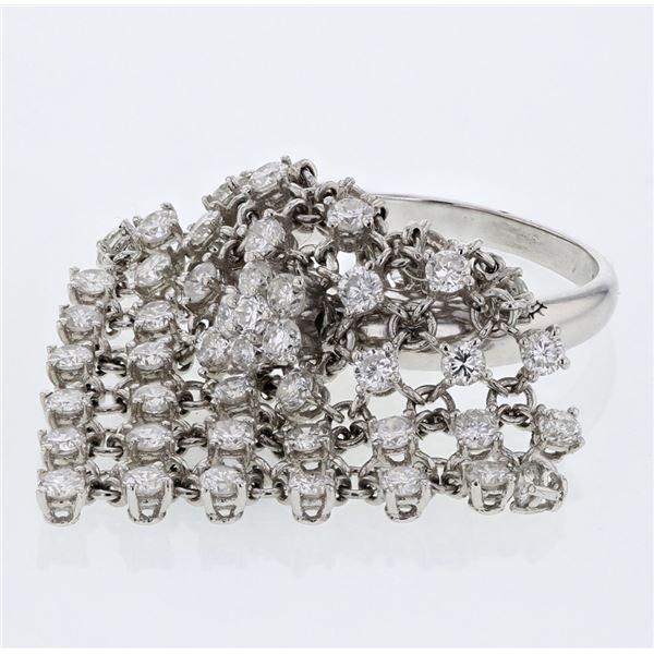 Natural 2.71 CTW Diamond Ring 14K White Gold - REF-298F8M