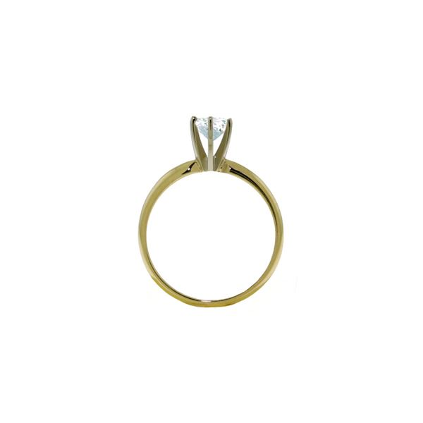 Genuine 0.65 ctw Aquamarine Ring 14KT White Gold - REF-28V8W