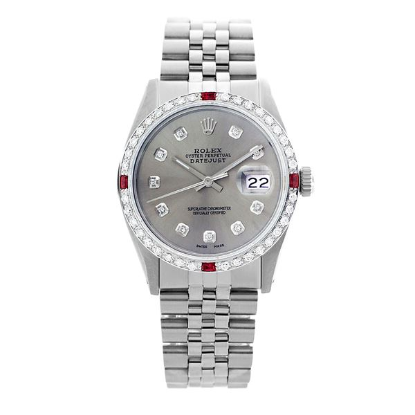 Rolex Pre-owned 36mm Mens Grey Stainless Steel