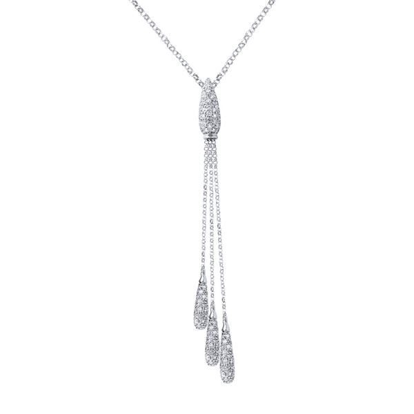 Natural 2.36 CTW Diamond Necklace 14K White Gold - REF-166T5X