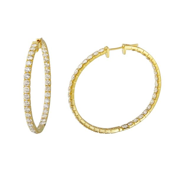 Natural 5.75 CTW Diamond Earrings 14K Yellow Gold - REF-511W2H