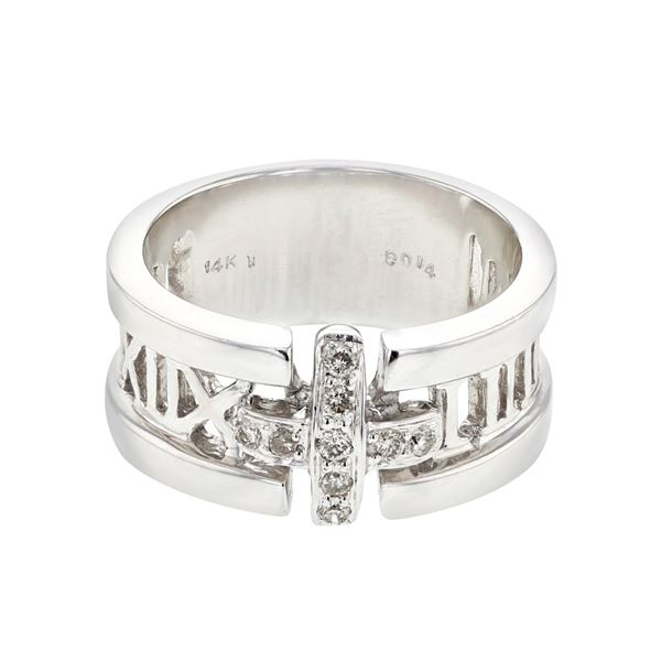 Natural 0.14 CTW Diamond Ring 14K White Gold - REF-78W3H