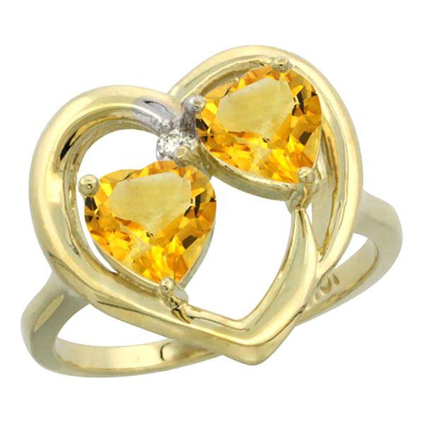 2.60 CTW Citrine Ring 14K Yellow Gold - REF-33M9K