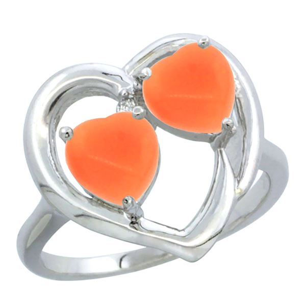 0.01 CTW Diamond Ring 14K White Gold - REF-33M2A