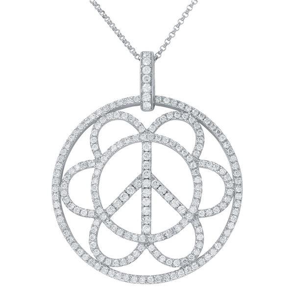 Natural 1.55 CTW Diamond Necklace 14K White Gold - REF-151T2X