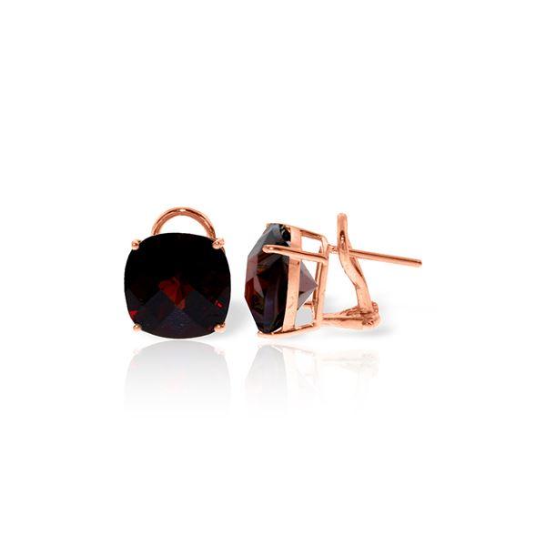 Genuine 9 ctw Garnet Earrings 14KT Rose Gold - REF-56R4P