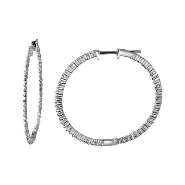 Natural 0.78 CTW Diamond Earrings 14K White Gold - REF-83W7H