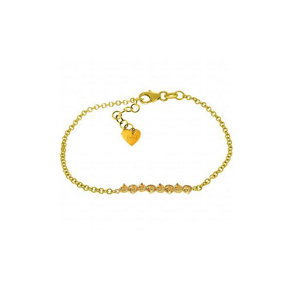 Genuine 1.55 ctw Citrine Bracelet 14KT Yellow Gold - REF-55N3R