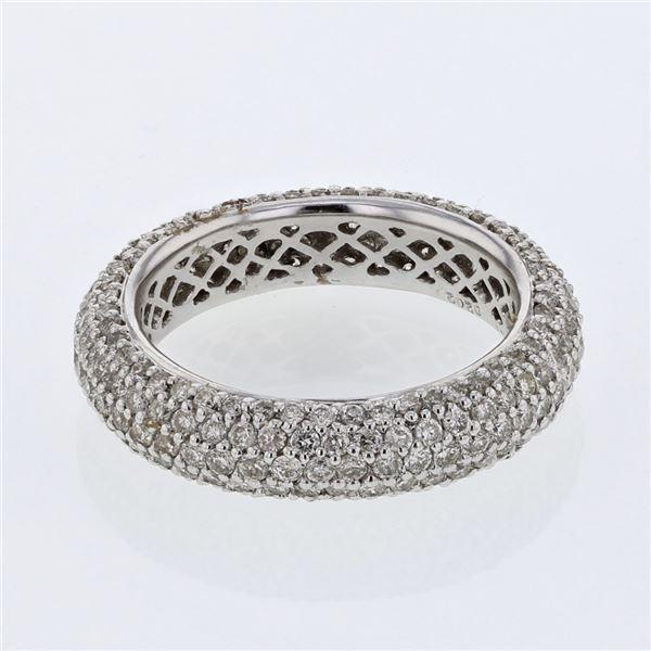 Natural 2.02 CTW Diamond Ring 14K White Gold - REF-205N2Y