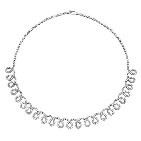 Natural 5.03 CTW Diamond Necklace 14K White Gold - REF-416K7R