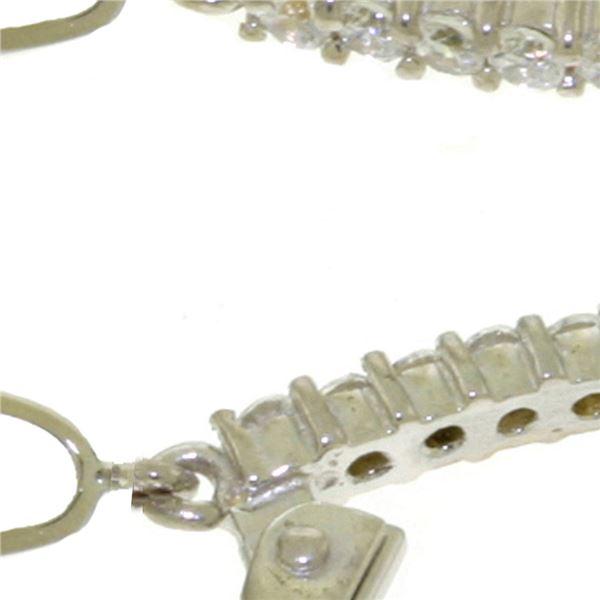 Genuine 6.3 ctw White Topaz & Diamond Earrings 14KT White Gold - REF-56A3K