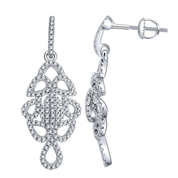 Natural 0.33 CTW Diamond Earrings 14K White Gold - REF-41F4M