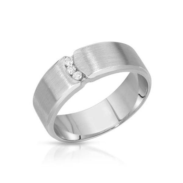Natural 0.10 CTW Diamond Ring 14K White Gold - REF-91W8H