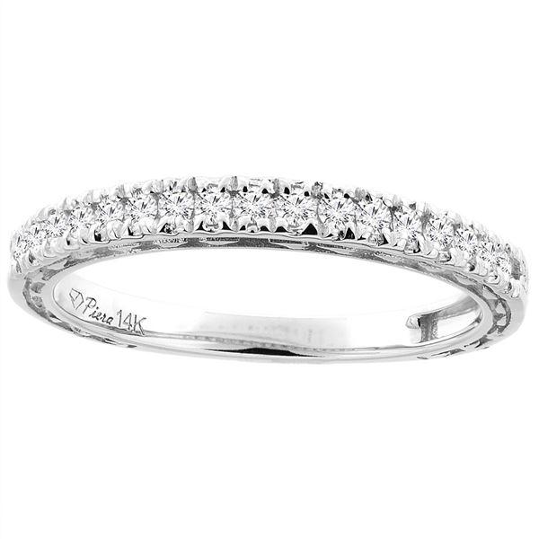 0.25 CTW Diamond Ring 14K White Gold - REF-60R6H