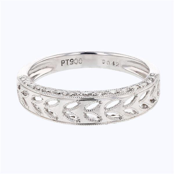 Natural 0.42 CTW Diamond Band Ring Platinum - REF-77T4X