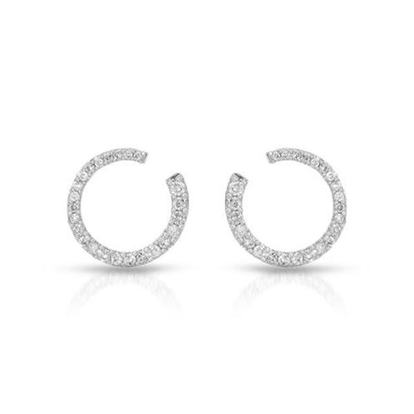 Natural 0.50 CTW Diamond Earrings 14K White Gold - REF-66T6X