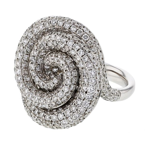 Natural 2.74 CTW Diamond Ring W=20MM 14K Gold - REF-308K7R