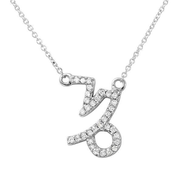Natural 0.20 CTW Diamond Necklace 14K White Gold - REF-34T2X