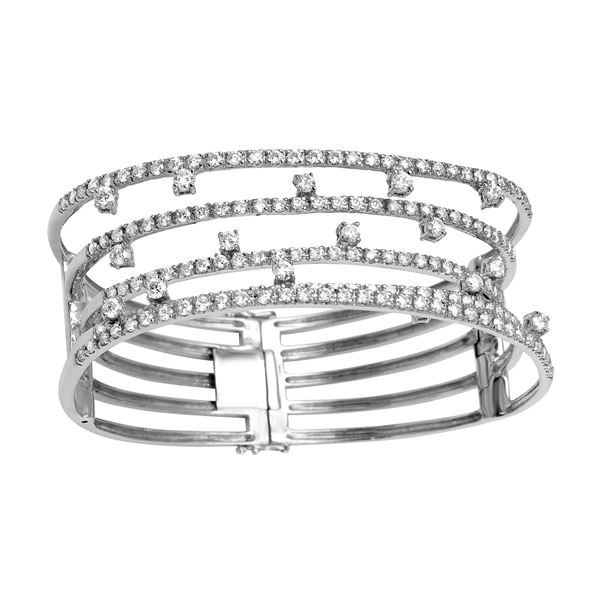 Natural 5.05 CTW Diamond & Bracelet 18K White Gold - REF-826W2H