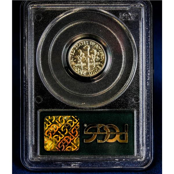 1963 USA SILVER 10 CENT PCGS MS65 SAMPLE HOLDER
