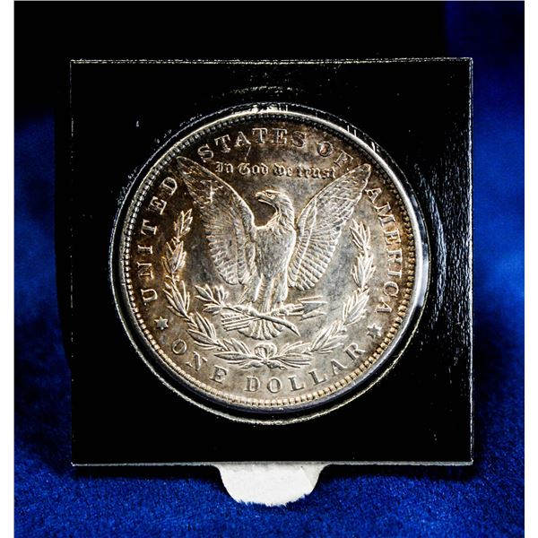 1898 USA SILVER MORGAN DOLLAR VAM-1B W/CRACK