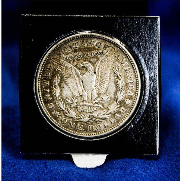 1921D USA SILVER MORGAN DOLLAR, DIE CRACK ERRORS